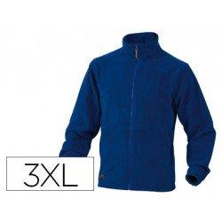 Chaqueta polar DeltaPlus azul talla 3XL