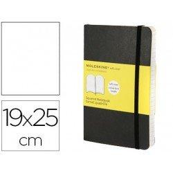 Libreta Moleskine tapa blanda liso negro 19x25 cm