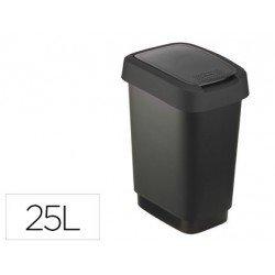 Papelera Offisys plastico 25 litros