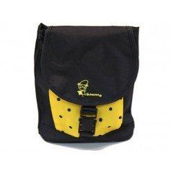 Bolso escolar portalapices negro y amarillo