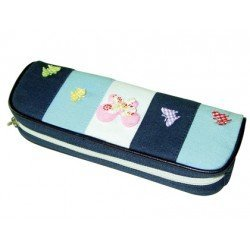 Bolso escolar portatodo fantasia mariposas colores