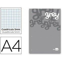 Bloc recambio encolado Liderpapel A4 grey