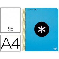 Bloc Antartik A4 Liso tapa Plástico 100g/m2 color Azul 5 bandas color