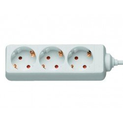 Regleta 3 tomas Mediarange sin interruptor cable 1,4 m