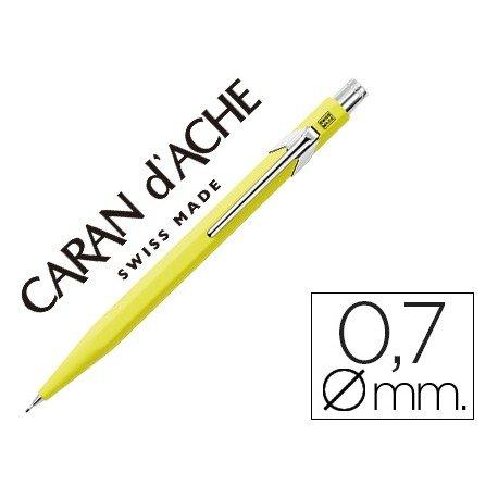 Portaminas marca Caran d'Ache 844 classic line amarillo