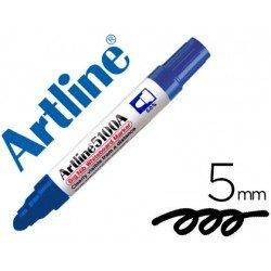 Rotulador para pizarra Artline azul punta redonda 5 mm