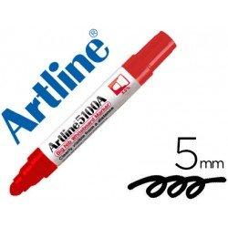 Rotulador para pizarra Artline rojo punta redonda 5 mm