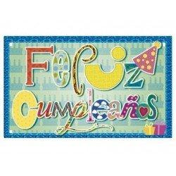Etiqueta Arguval Feliz Cumpleaños modelo 70 rollo de 250 unidades