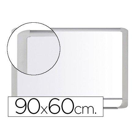 Pizarra Blanca Vitrificada Magnetica marco de aluminio blanco 90x60 Bi-Office