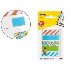 Banderitas Post-it ® separadoras decoradas de 11,9 x 43,20 mm 100 unidades