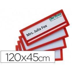 Identificador para puertas-pared Rojo 120x45 MM