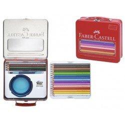 Maletin Faber Castell con lapices de colores asa y cierre