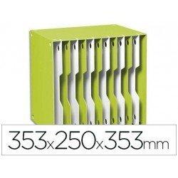 Archivador modular Cep poliestireno 12 casillas verde/blanco 353x250x353 mm