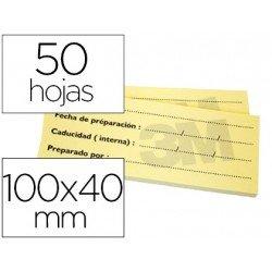 Bloc de notas adhesivas amarillas trazabilidad post-it 50 hojas