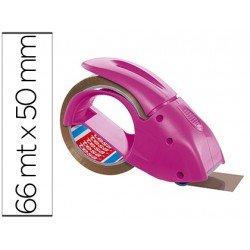 Portarrollo tesa embalaje para rollos de 66 mt x 50 mm rosa