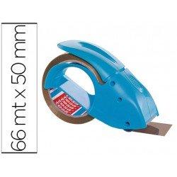 Portarrollo tesa embalaje para rollos de 66 mt x 50 mm azul