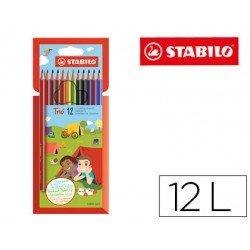 Lapices de colores Stabilo Trio Slim caja de 12 colores