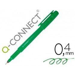 Rotulador Q-Connect punta de fibra verde trazo 0.4 mm