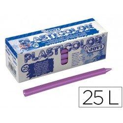 Lapices de cera Jovi Plasticolor lila caja de 25 unidades