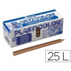 Lapices de cera Jovi Plasticolor marron claro caja de 25 unidades