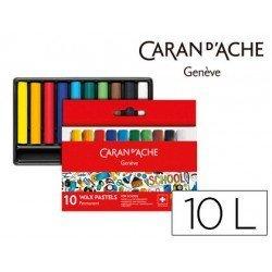 Lapices cera Caran D´Ache caja de 10 colores
