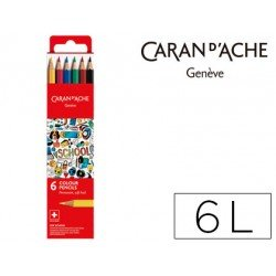 Lapices permanete Caran D´ache caja 6 Colores FSC