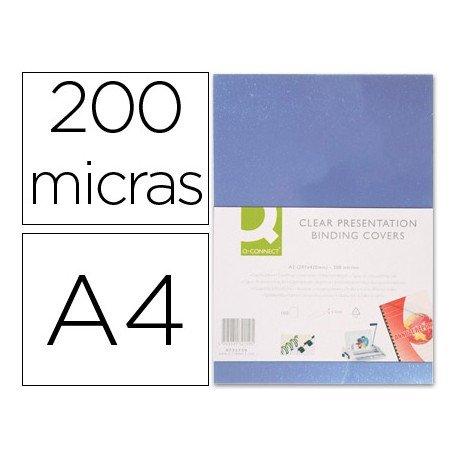Tapa de Encuadernacion Pvc Q connect A4 Incolora 200 MC