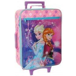 Maleta de cabina blanda Frozen 50x18x35cm Elsa y Anna