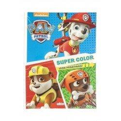 Cuaderno de Colorear Patrulla Canina Supercolor con Pegatinas