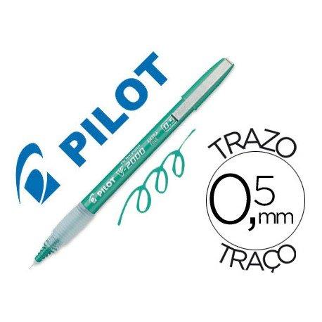 Rotulador Pilot Punta aguja Tinta Liquida Verde