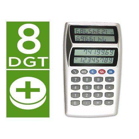 Calculadora Sobremesa CSP P-884 CFD doble pantalla