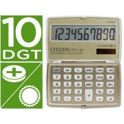 Calculadora bolsillo Citizen CTC-110B 10 digitos Champan