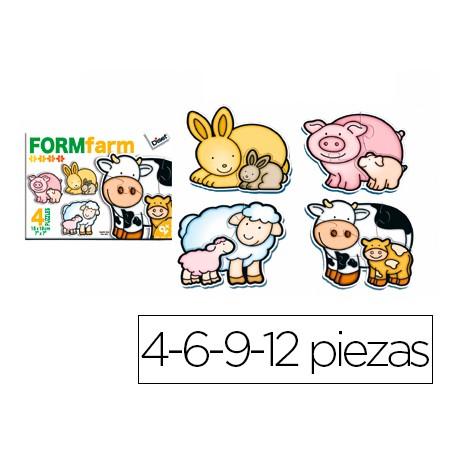 Puzzle infantil Form Farm Diset