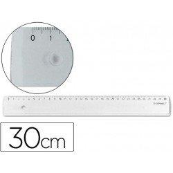 Regla de plastico cristal Q-Connect