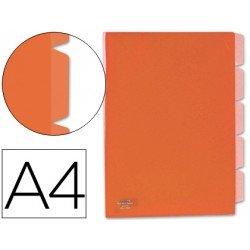 Carpeta dossier 5 separadores Beautone Din A4 rojo