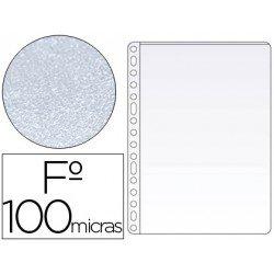 Funda multitaladro Q-connnect folio pvc 100 micras piel naranja