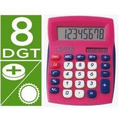 Calculadora sobremesa Citizen SDC-450 rosa