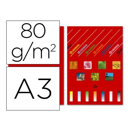 Papel color A3 Liderpapel 80 g/m2