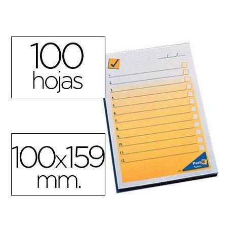 Bloc de notas preimpresas Post-it 102 x 149 mm.