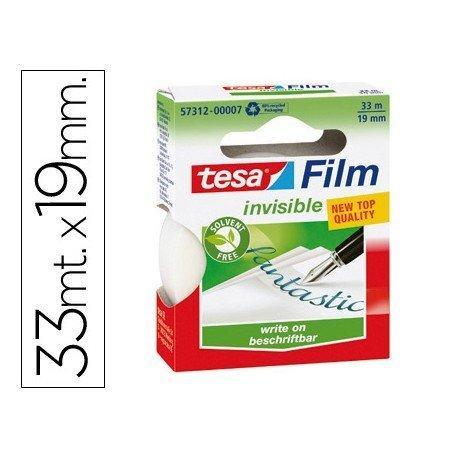 Cinta adhesiva invisible 33mx19mm Tesa ecologica