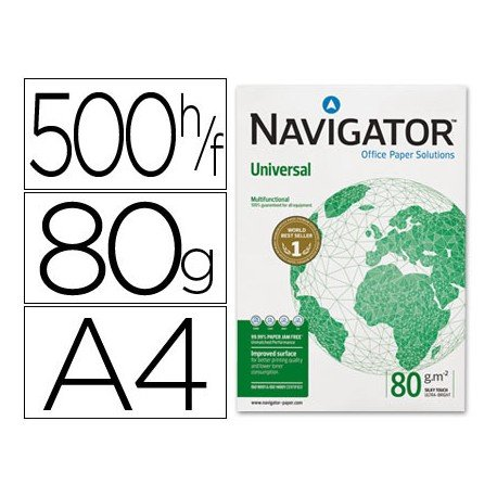 Papel Fotocopiadora Navigator A4 80 gr.