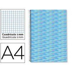 Bloc Liderpapel A4 serie Multilider cuadricula celeste