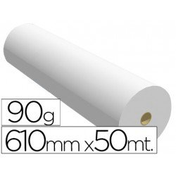 Papel reprografia Plotter 90 g/m2, 610 mm x 50 m.