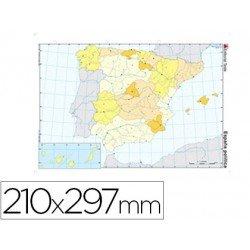 Mapa mudo España politico