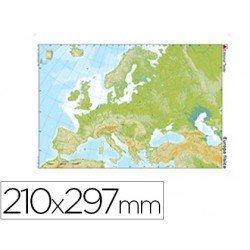 Mapa mudo Europa fisico