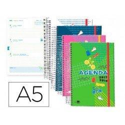 Agenda Escolar 17-18 Semana Vista A5 Bilingüe Liderpapel Classic No se puede elegir color