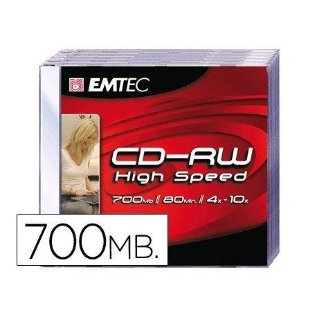 CR-R Emtec Recargable 700mb 80min velocidad 4-10X Caja 1 unidad