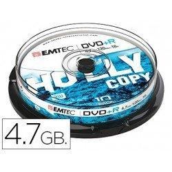 DVD-R Emtec 4,7GB 120min velocidad 16X Tarrina 10 unidades