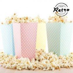 Cubo para palomitas de maíz topos reto Pack de 10 Colores Surtidos NO SE PUEDE ELEGIR COLOR