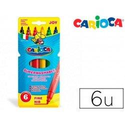 Rotulador Carioca Joy finos lavables caja de 6 rotuladores